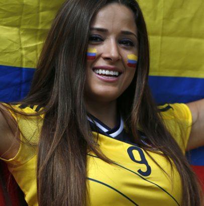 コロンビアの美人女性の顔画像